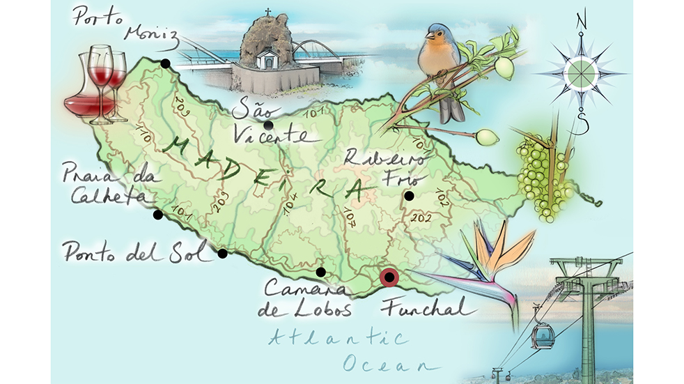 Madeira holiday guide: map of island