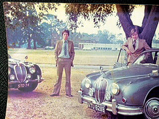 Members letters: Steve Draper with his brother and their Jaguar cars