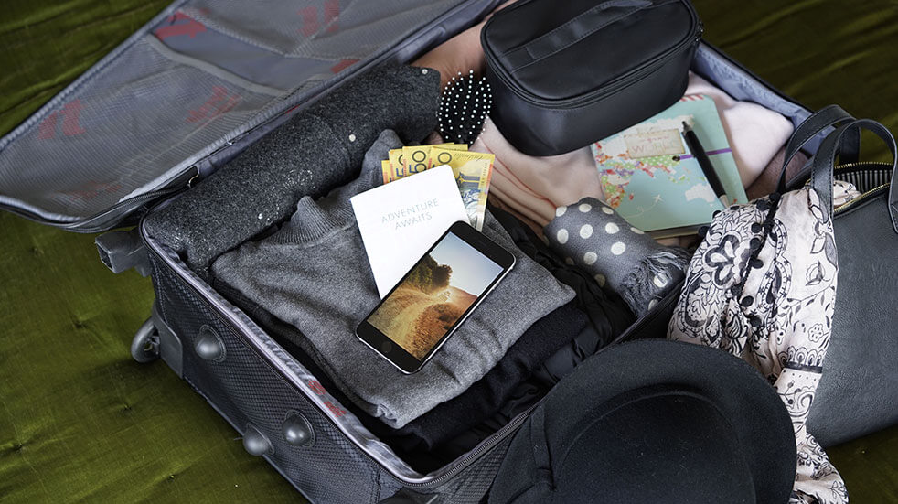 Be smart when packing for a long trip