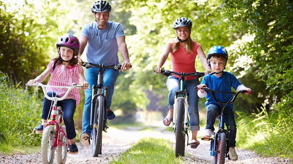 Mountain biking in Forest of Dean - family cycling