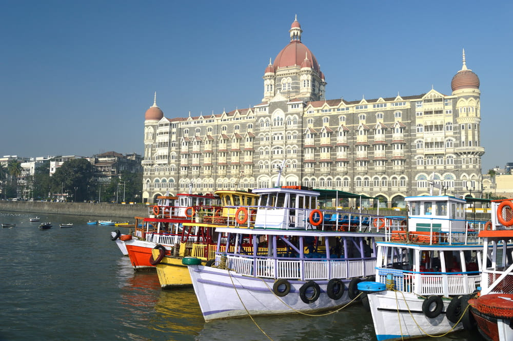 Cruise boats at the Gateway of India, Mumbai