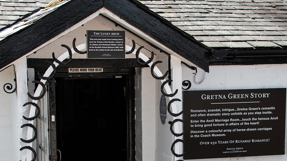 Museums at Night late night events: Gretna Green Blacksmiths Museum, sparks in the dark