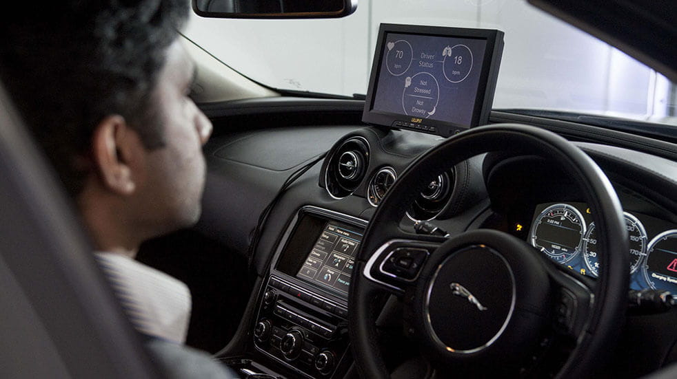 New car safety technology: Jaguar driver monitoring