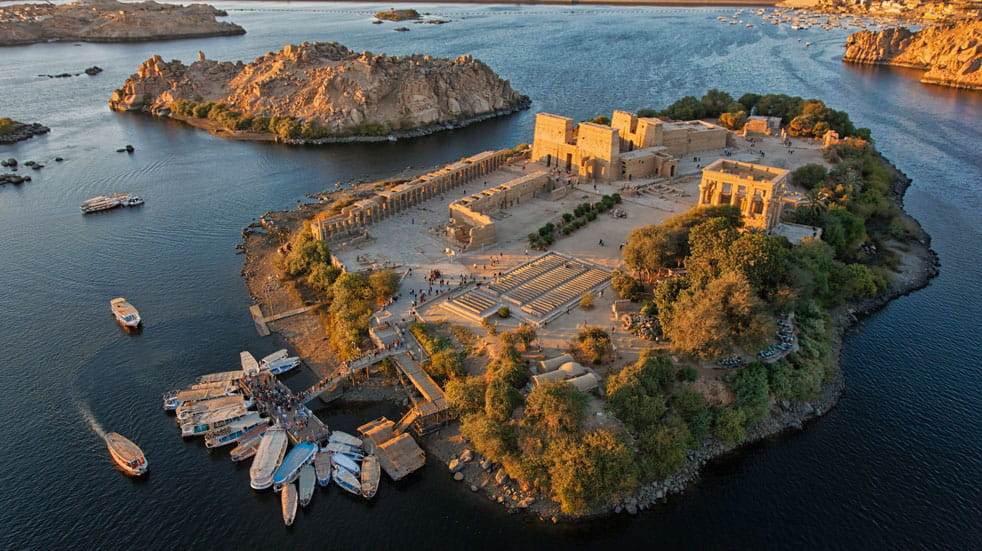 Originally built in 690BC, Philae Temple was moved to Aglikia Island to avoid flooding