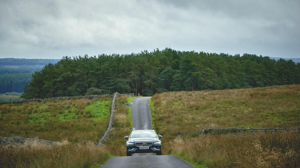 A great drive through Northumberland: Volvo V60