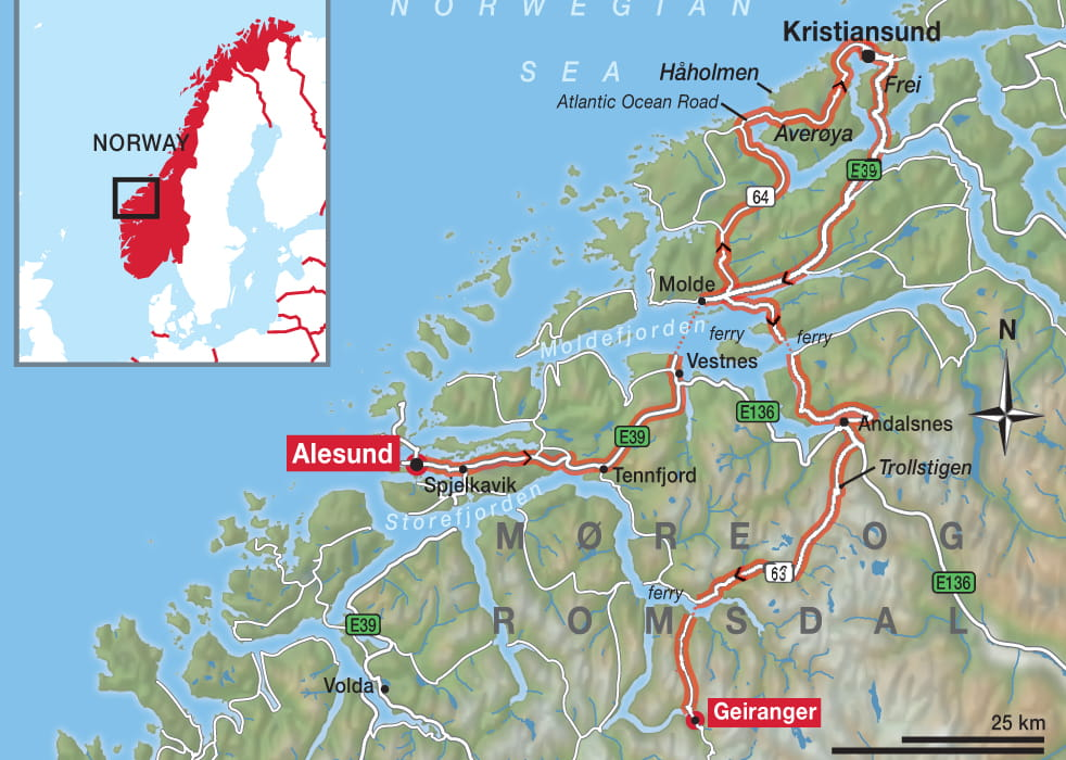 Map of Alesund