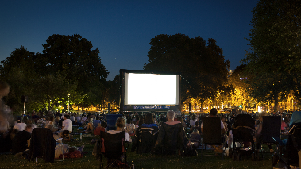 Outdoor film screenings