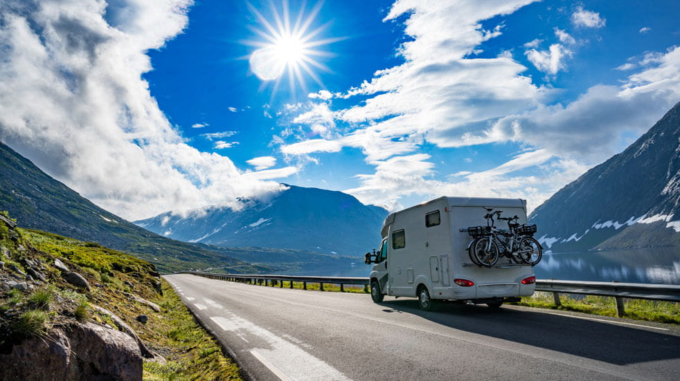 Plan your first motorhome holiday; driving in the mountains