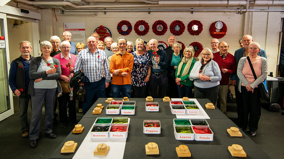 Boundless members visit the poppy factory in Richmond
