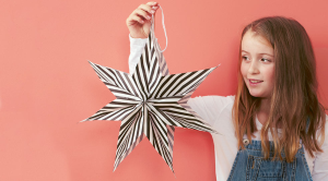 Quick crafts for kids: how to make a paper bag star