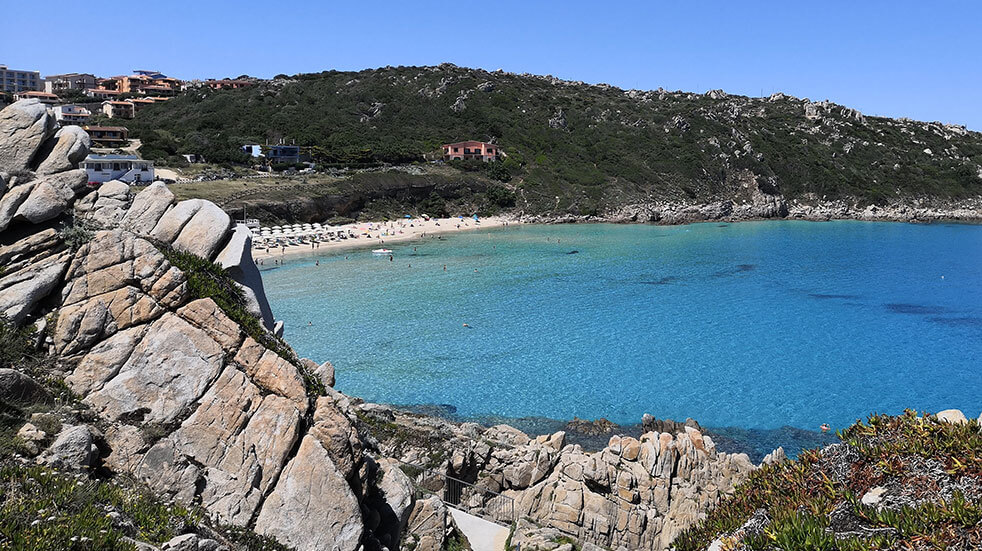 Sardinia travel guide: the beach at Capo Testa in Santa Teresa Gallura