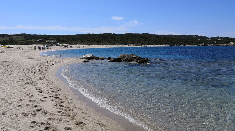 Sardinia travel guide: the beach at Hotel Valle Dell'Erica