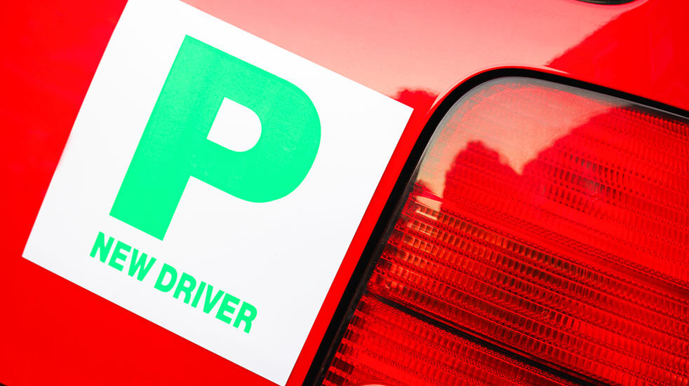 Save money as a new driver: using new driver plates