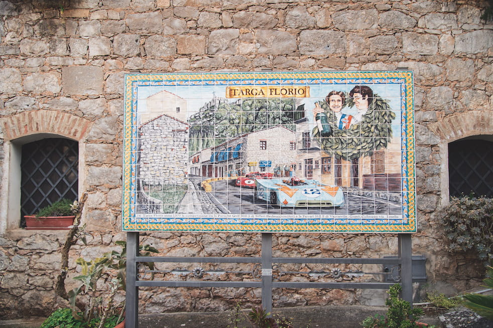 The Targa Florio route is still a part of the area's memory