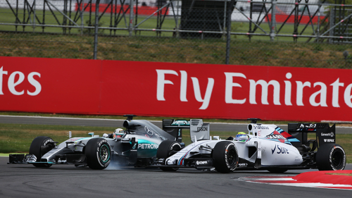 Hamilton and Massa jockey for the lead