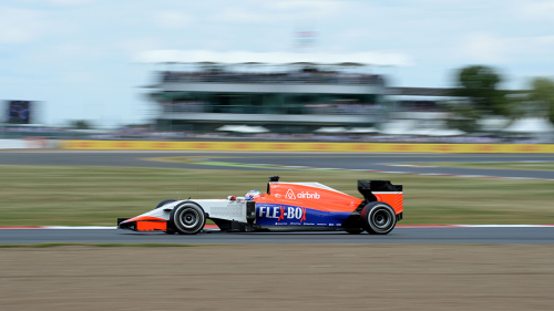 British driver Will Stevens made his Silverstone F1 debut