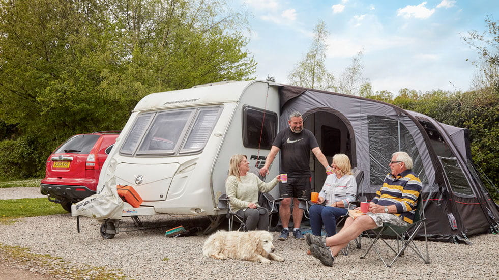 Members of the caravanning group in Whitemead