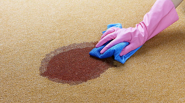 Spring cleaning; removing stain