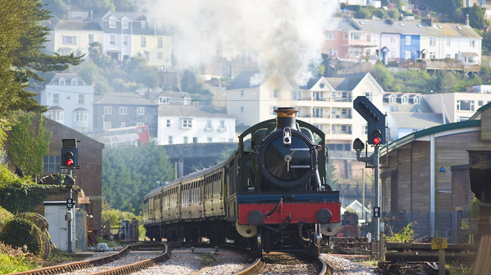 Steam train family day out Dartmouth railway