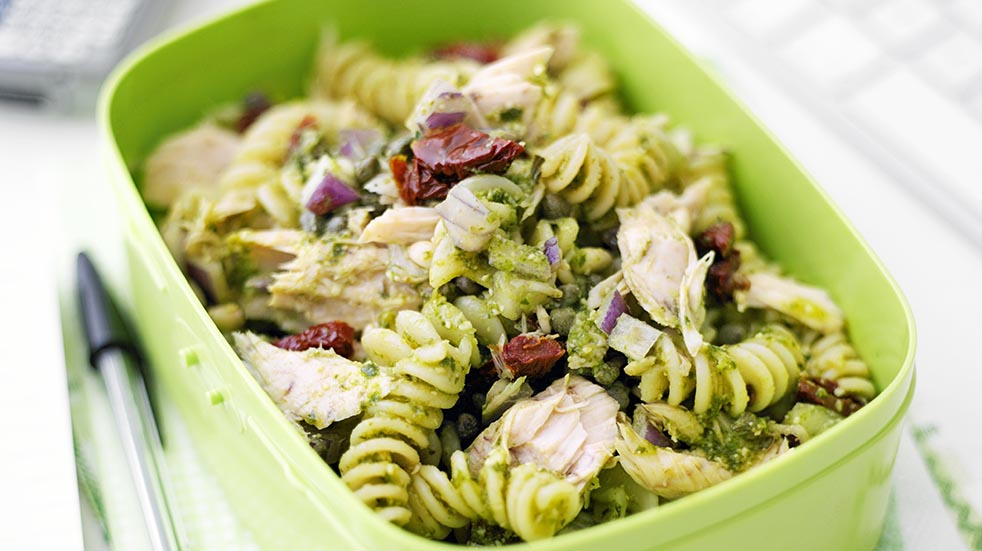 Store cupboard recipes; pasta salad