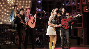 The cast of Sunny Afternoon, on stage