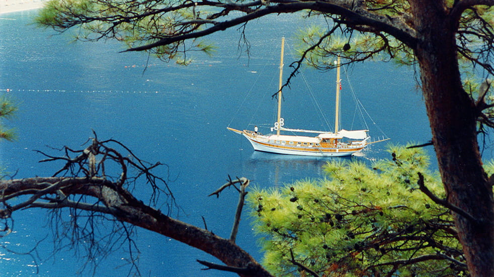Sustainable and eco tourism: gulet boat in Turkey