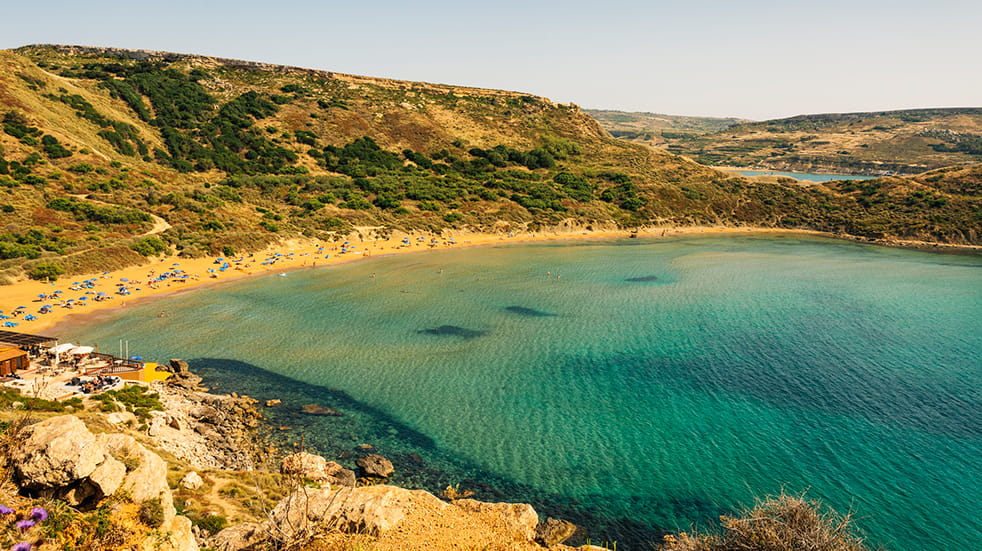 Sustainable and eco tourism: Mellieha beach Malta
