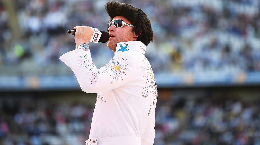 T20 cricket family day out: Elvis entertainment