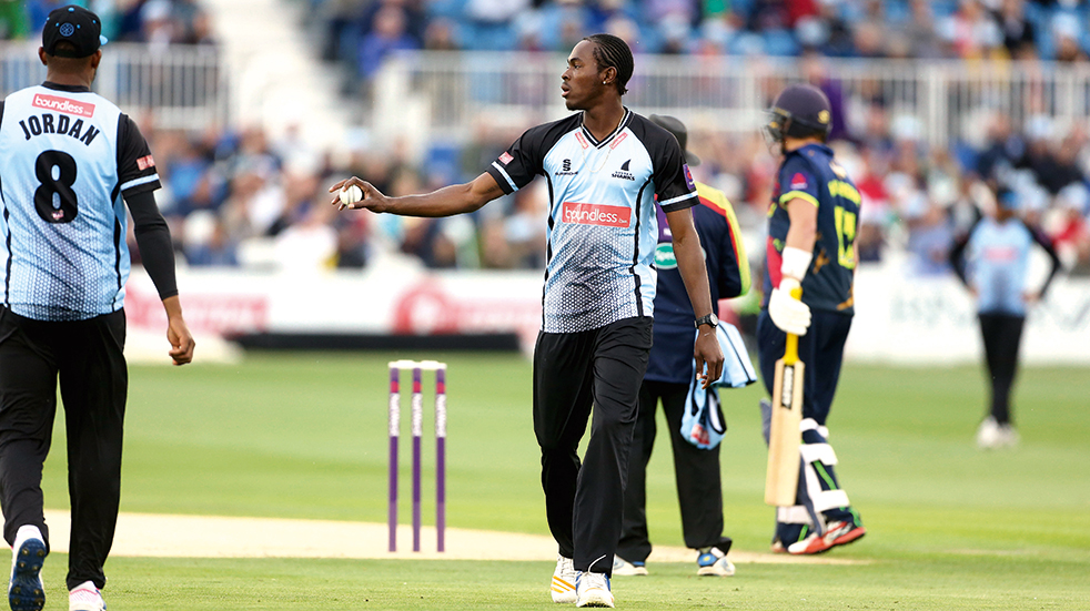 T20 cricket family day out: Jofra Archer