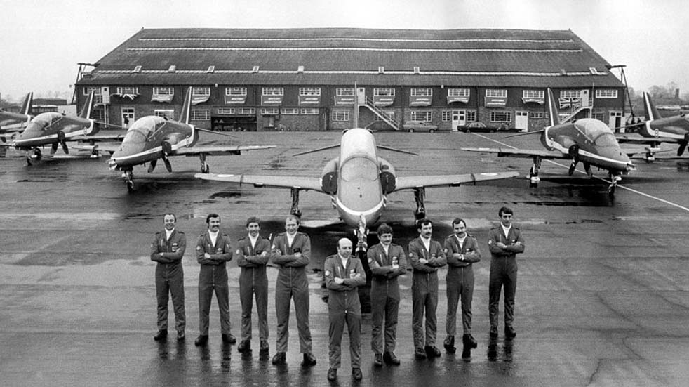 The Red Arrows history pilots with planes