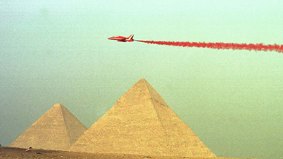 The Red Arrows history flying over Pyramids