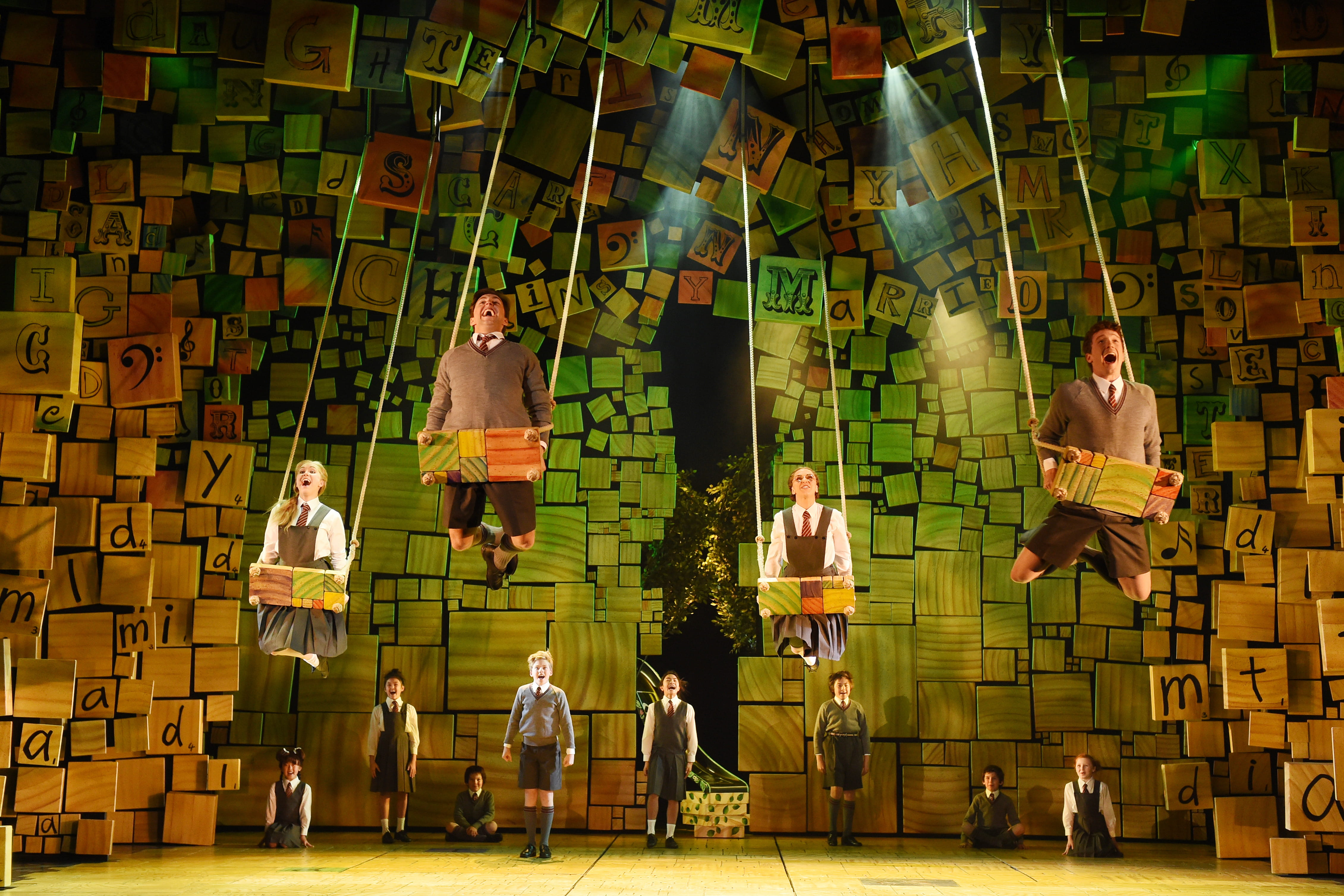 Rob Howell's miniature set model box for Matilda the Musical