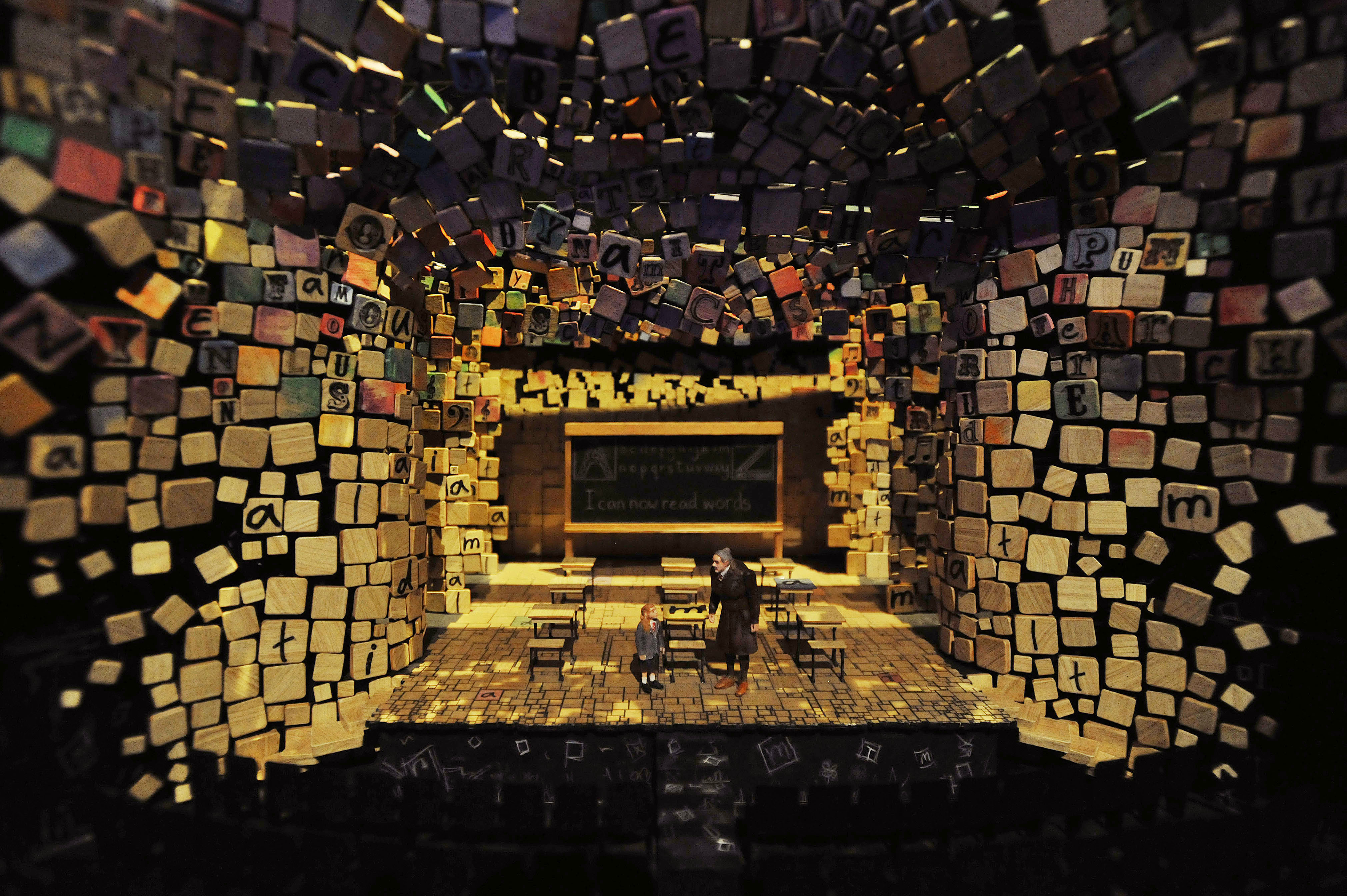 The fully-realised Matilda the Musical set