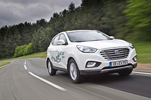 White Hyundai ix35 Fuel Cell