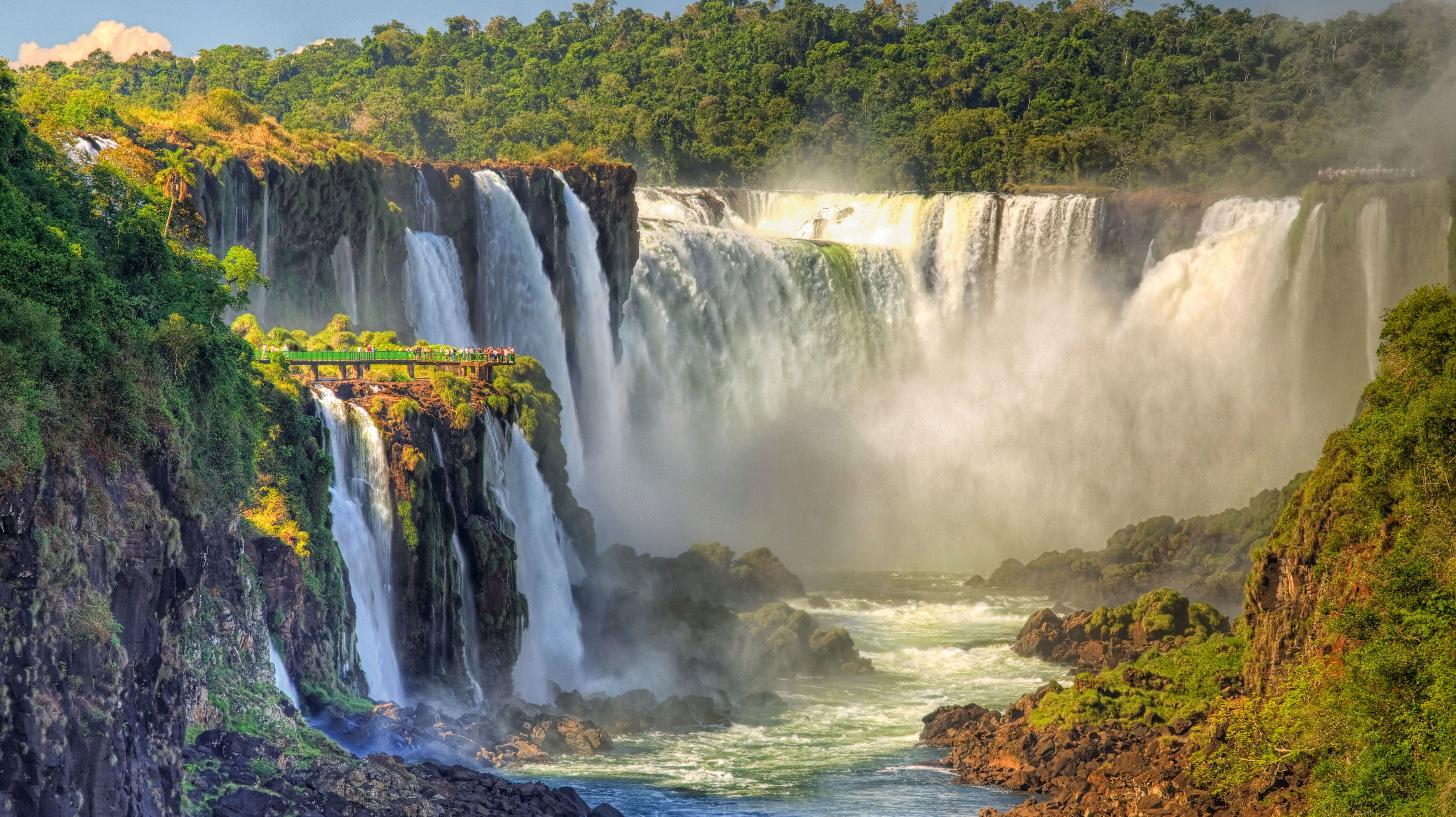 Iguazu Falls at the border of Argentina and Brazil