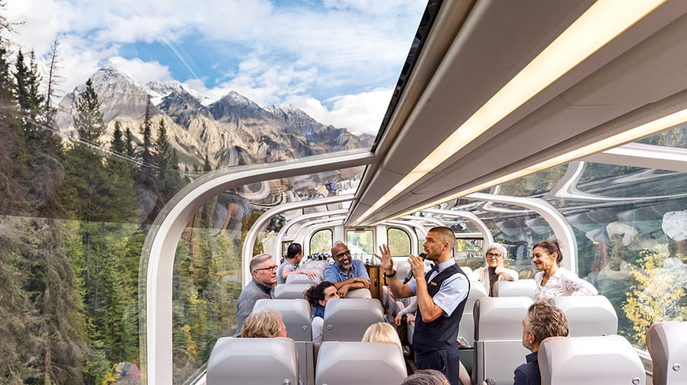 Tropical Sky holiday destinations: on-board the Rocky Mountaineer train with GoldLeaf Service