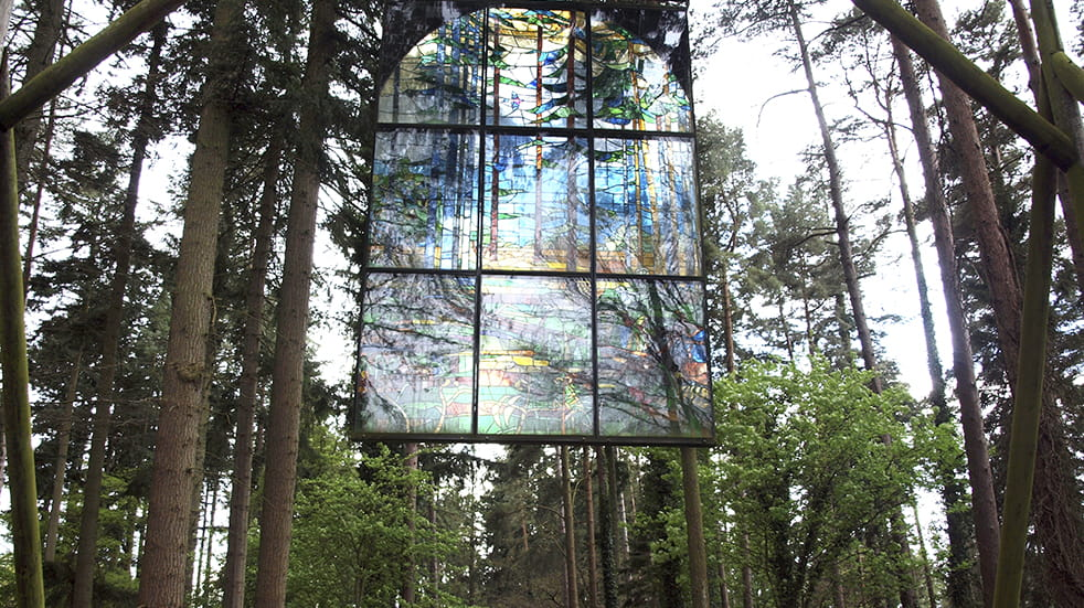 Stained glass window in the Forest of Dean