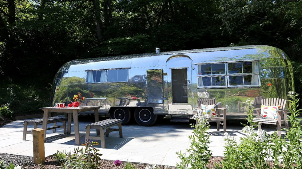 Staying in a luxury American airstream trailer makes for a UK break with a difference