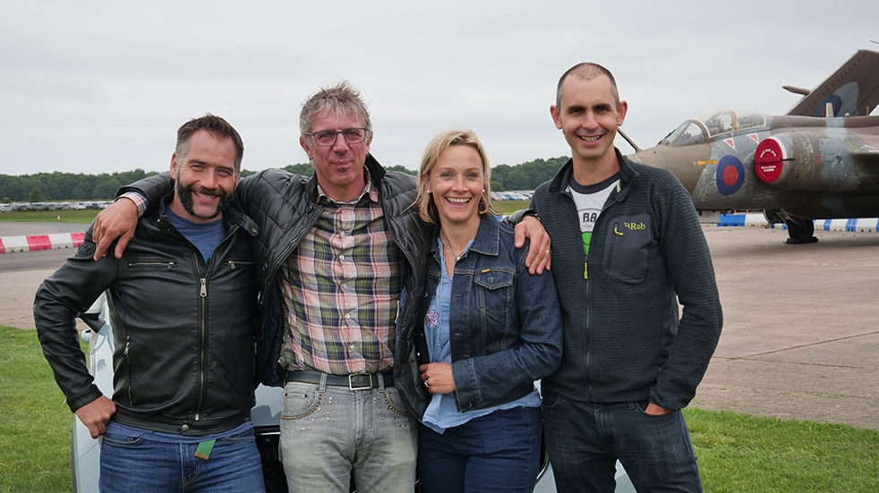 Vicki Butler-Henderson on the Fifth Gear TV show with Jimmy de Ville, Jason Plato and Jonny Smith