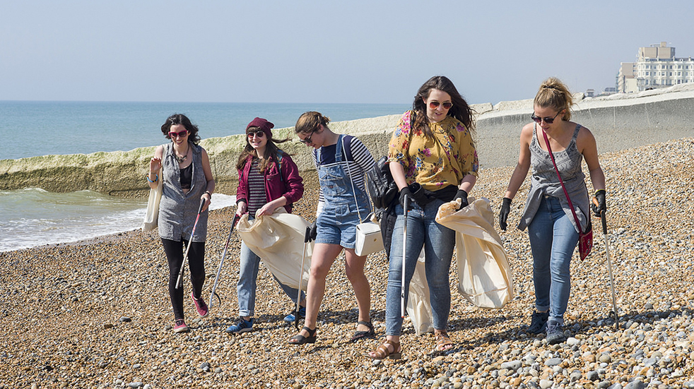 Volunteer for a beach clean with Surfers Against Sewage, Brighton and Hove Lawns