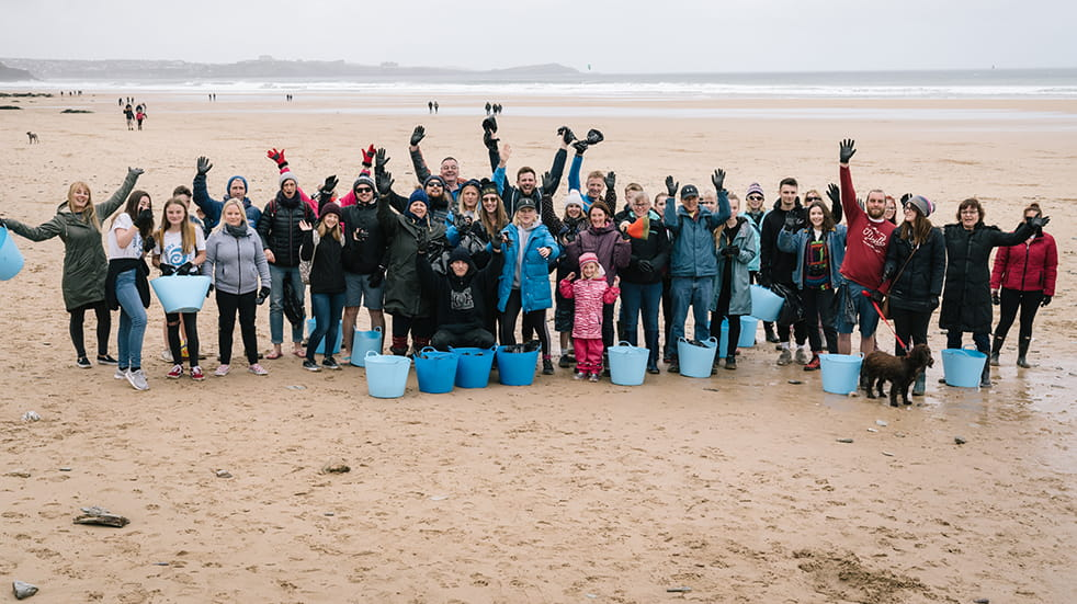 Volunteer for a beach clean with Surfers Against Sewage, Watergate Bay