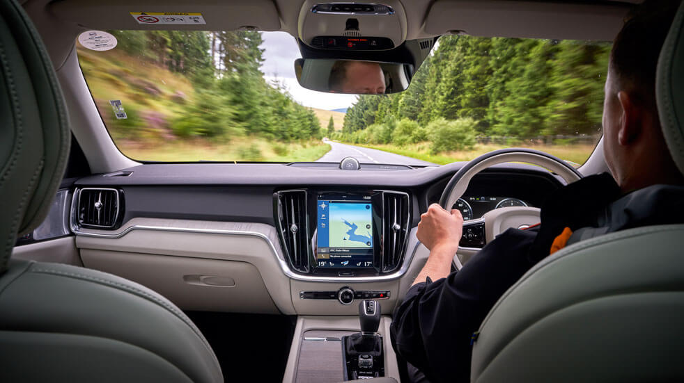 Volvo  review: driving interior
