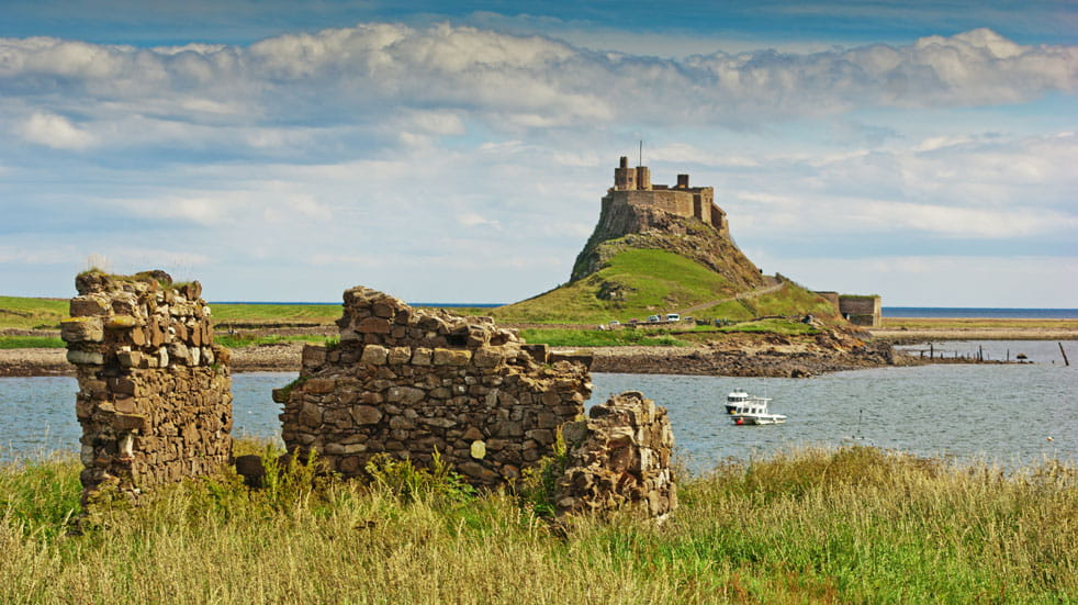 Lindisfarne, at the end of St Cuthbert's Way
