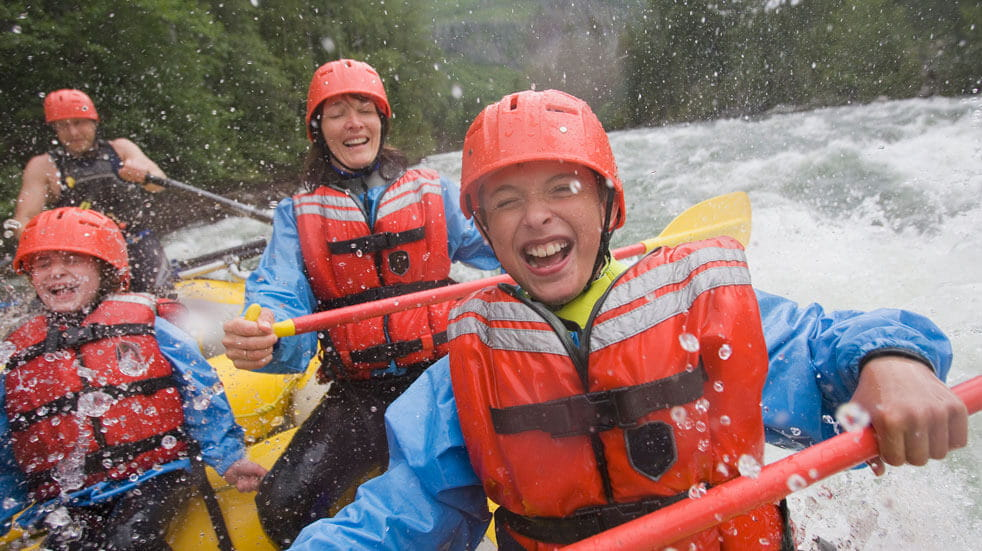 What to do on Mother's Day; white water rafting