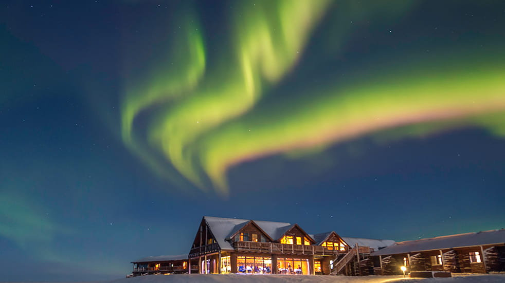 What to see Iceland: Northern Lights over Hotel Ranga