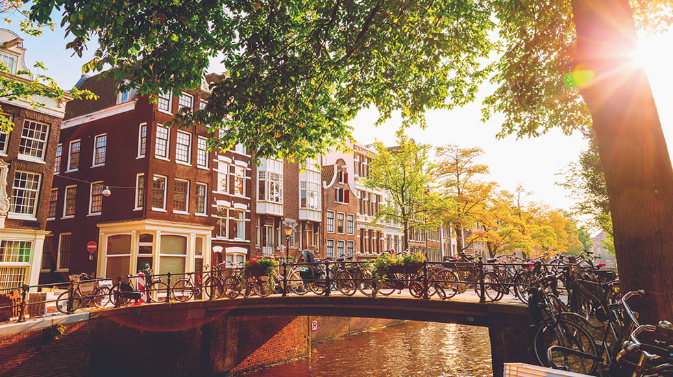 Why choose ferry travel to Europe: Amsterdam canals