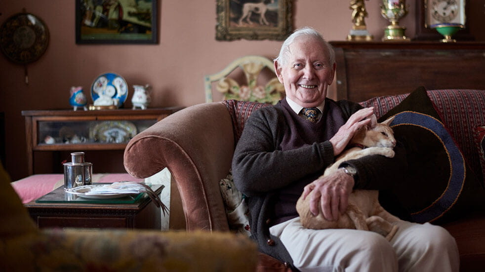 Why having pets could change your life; old man with cat