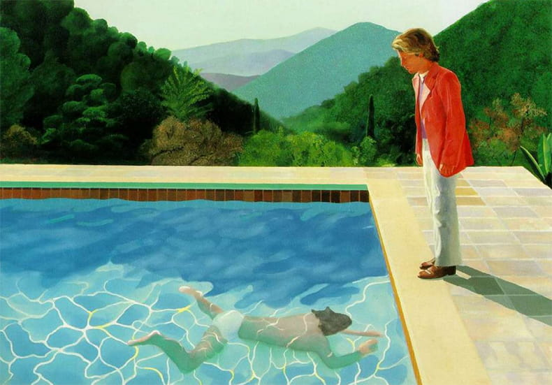 Portrait of an Artist (Pool With Two Figures) (1972) David Hockney