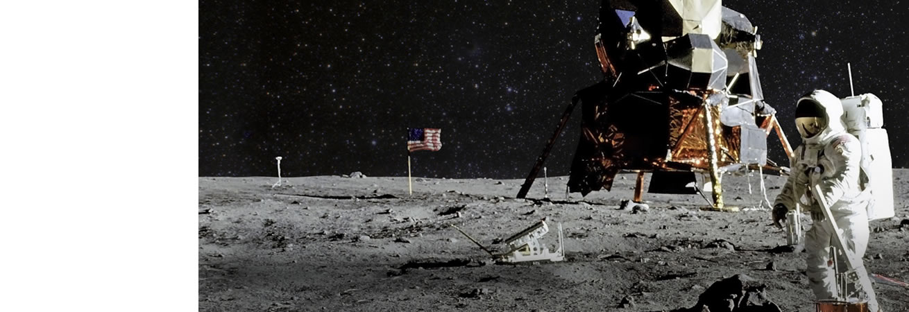 Man landing on the moon