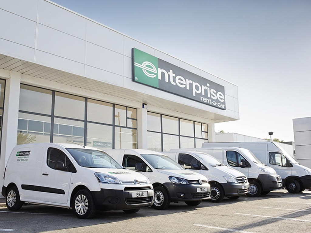 Enterprise vans in a row